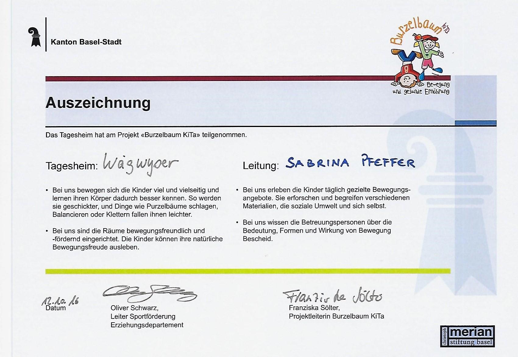 Startseite - Kinderbetreuung Wägwyser GmbH